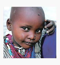 Masaii boy Tanzania Photographic Print