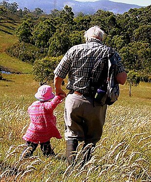 Walk With Opa by Katewah