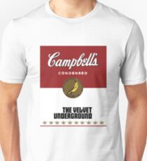 The Velvet Underground Campbell's soup can (Andy Warhol) Unisex T-Shirt