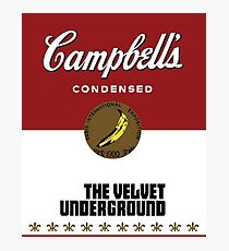 The Velvet Underground Campbell's soup can (Andy Warhol) Photographic Print