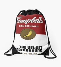 The Velvet Underground Campbell's soup can (Andy Warhol) Drawstring Bag