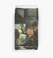 Stolen Art - The Concert by Johannes Vermeer Duvet Cover