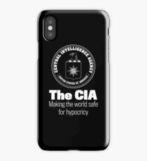 The CIA Making the World Safe For Hypocricy by LibertyManiacs iPhone Case/Skin