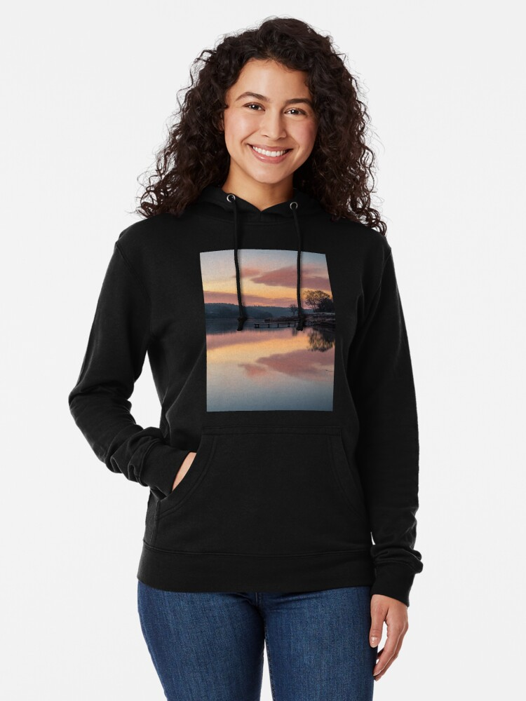 Alternate view of Dawn At The Old Millpond Lightweight Hoodie