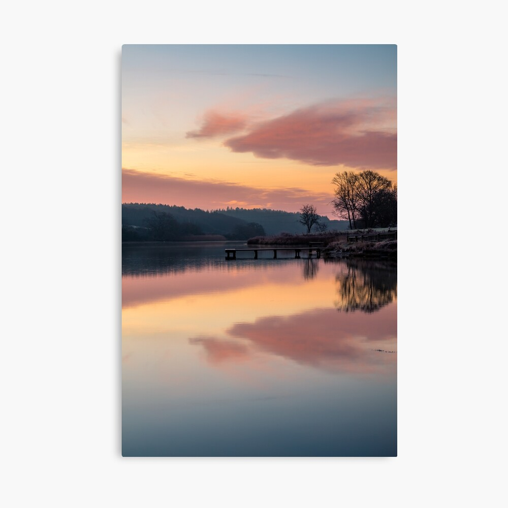 Dawn At The Old Millpond Canvas Print
