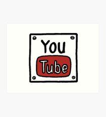 YouTube Box Title Art Print