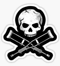 Skull & CrossCrutches Sticker