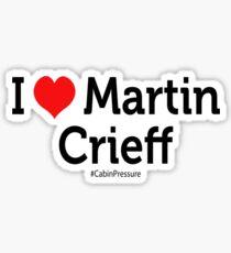 I Love Martin Crieff Sticker