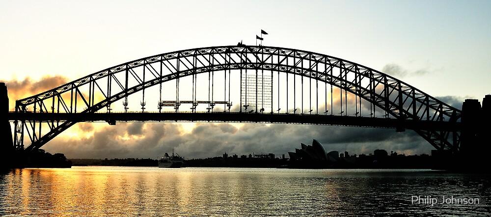Low Cloud, Sydney Harbour  - Australia by Philip Johnson