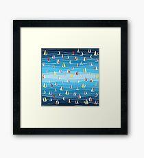 Blue Regatta  Framed Print