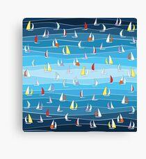 Blue Regatta  Canvas Print