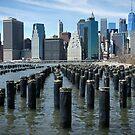 Manhattan Skyline by Ann Garrett