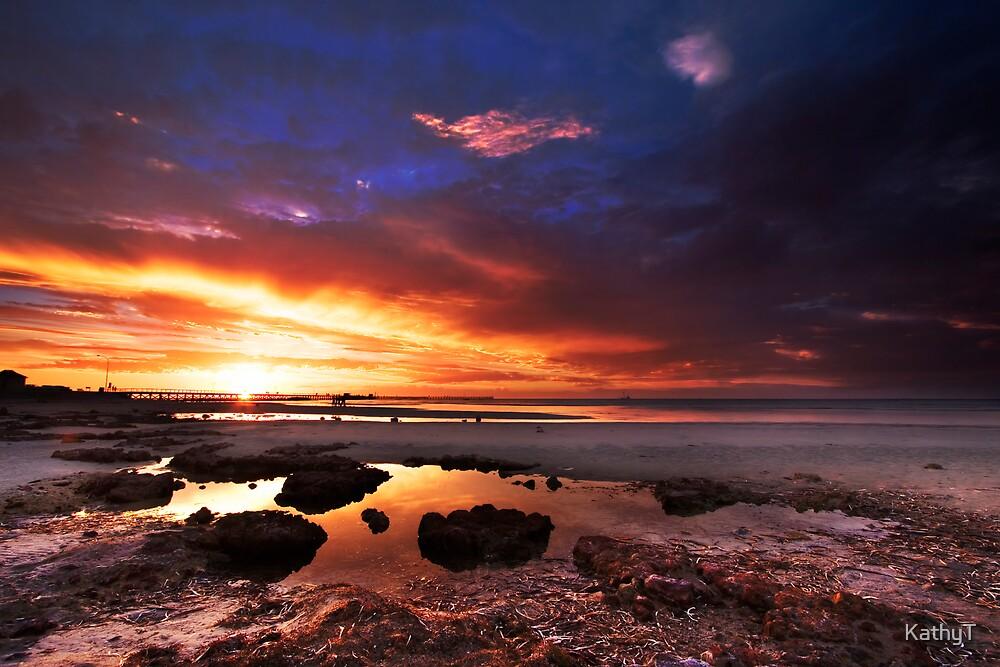 Sunset at Moonta Bay by KathyT