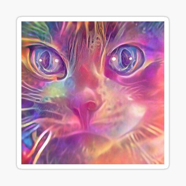 Rainbow Catnip Sticker