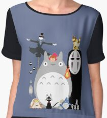 Studio Ghibli Gang Women's Chiffon Top
