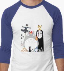 Studio Ghibli Gang Men's Baseball ¾ T-Shirt