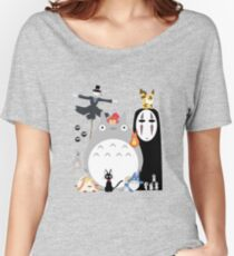 Studio Ghibli Gang Women's Relaxed Fit T-Shirt