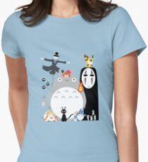 Studio Ghibli Gang Women's Fitted T-Shirt
