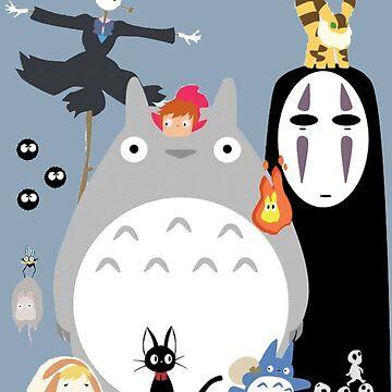 Studio Ghibli Gang by sofich