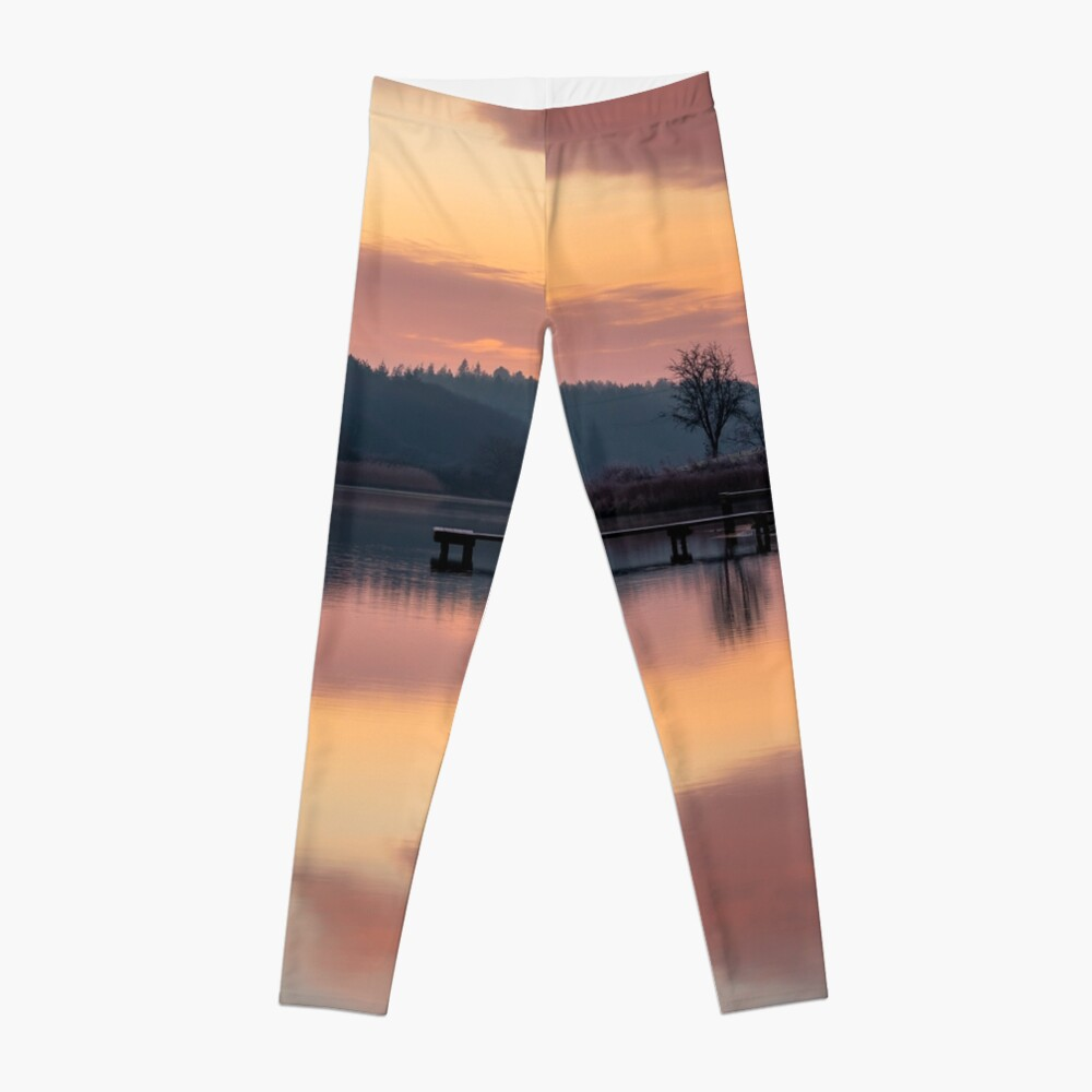 Dawn At The Old Millpond Leggings