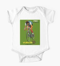VUELTA SPAIN: Vintage Bike Racing Advertising Print One Piece - Short Sleeve