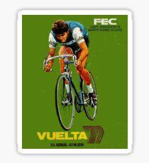 VUELTA SPAIN: Vintage Bike Racing Advertising Print Sticker