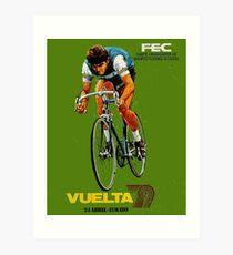 VUELTA SPAIN: Vintage Bike Racing Advertising Print Art Print