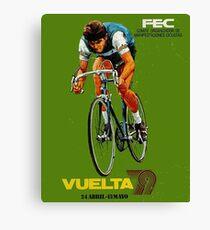 VUELTA SPAIN: Vintage Bike Racing Advertising Print Canvas Print