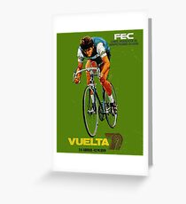 VUELTA SPAIN: Vintage Bike Racing Advertising Print Greeting Card