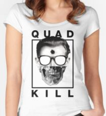 Quad Kill - White Women's Fitted Scoop T-Shirt