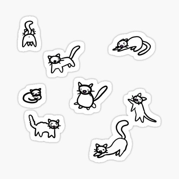 Cat Pack Doodle Sticker