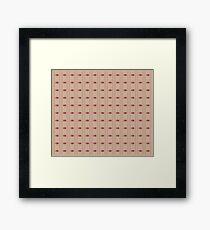 Simplistic Diamond and Striped Pattern Framed Print