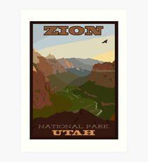 Zion NP Poster Art Print
