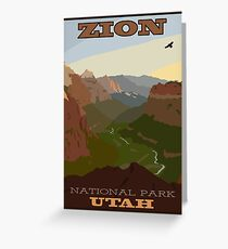 Zion NP Poster Greeting Card