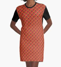 Dragon Scales (Red) Graphic T-Shirt Dress