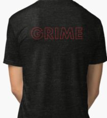 Grime - Red Tour Letters Tri-blend T-Shirt