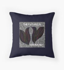 The future is non binary Throw Pillow