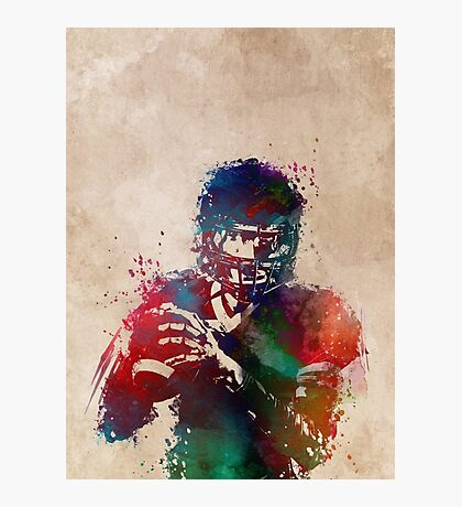 American football player 3 #sport #football Photographic Print