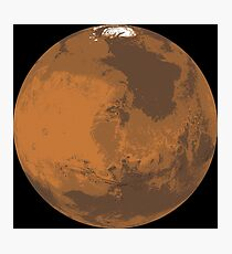 Stylised Layer Full Mars Photographic Print