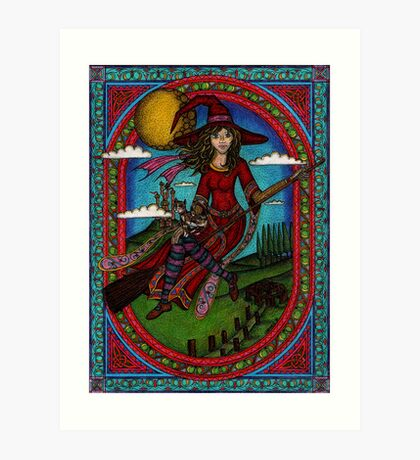 The Young Red Witch Art Print