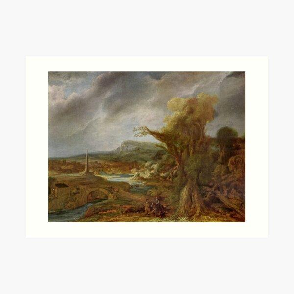 Stolen Art - Landscape with an Obelisk by Govert Flinck Art Print
