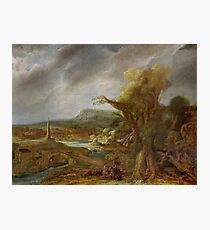 Stolen Art - Landscape with an Obelisk by Govert Flinck Photographic Print