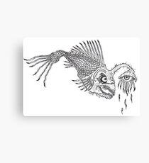 CREEPY FISH Canvas Print