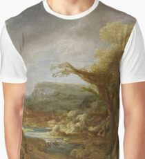 Stolen Art - Landscape with an Obelisk by Govert Flinck Graphic T-Shirt