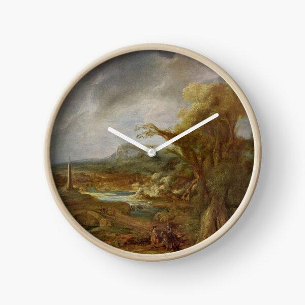Stolen Art - Landscape with an Obelisk by Govert Flinck Clock