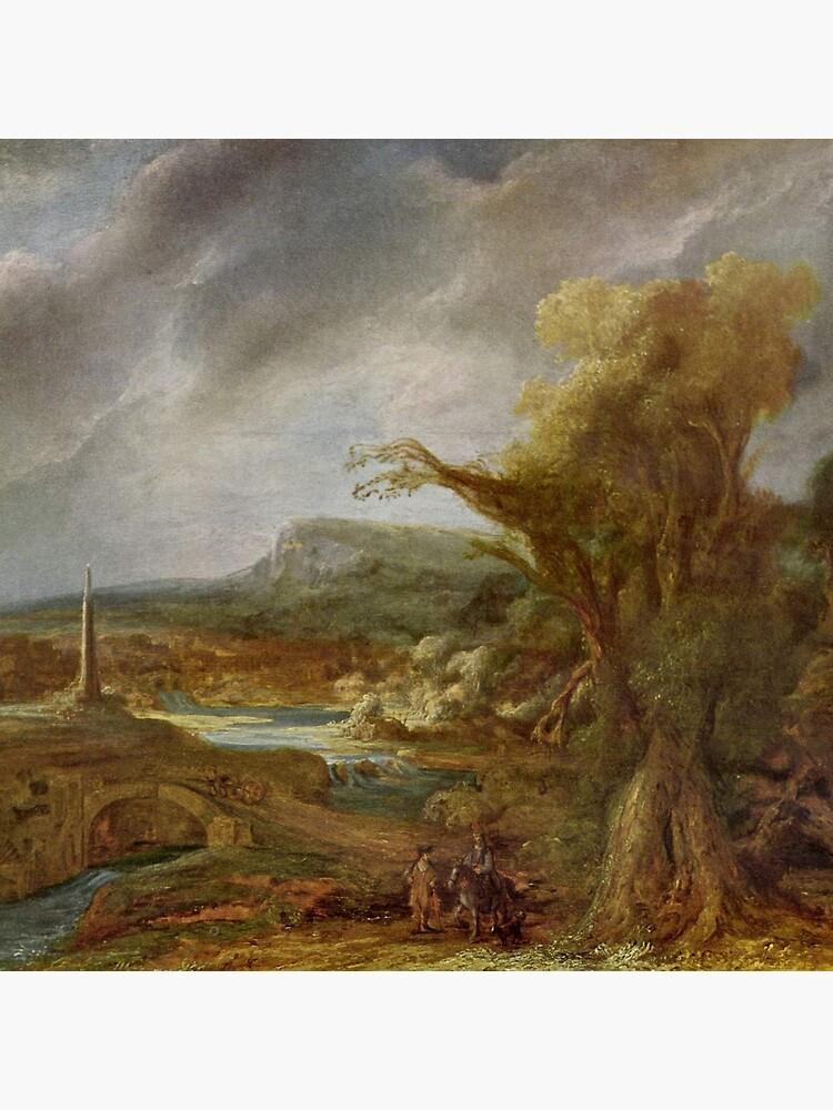 Stolen Art - Landscape with an Obelisk by Govert Flinck by podartist