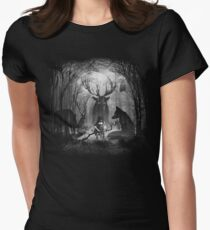Classical Concerto in the Woods Women's Fitted T-Shirt