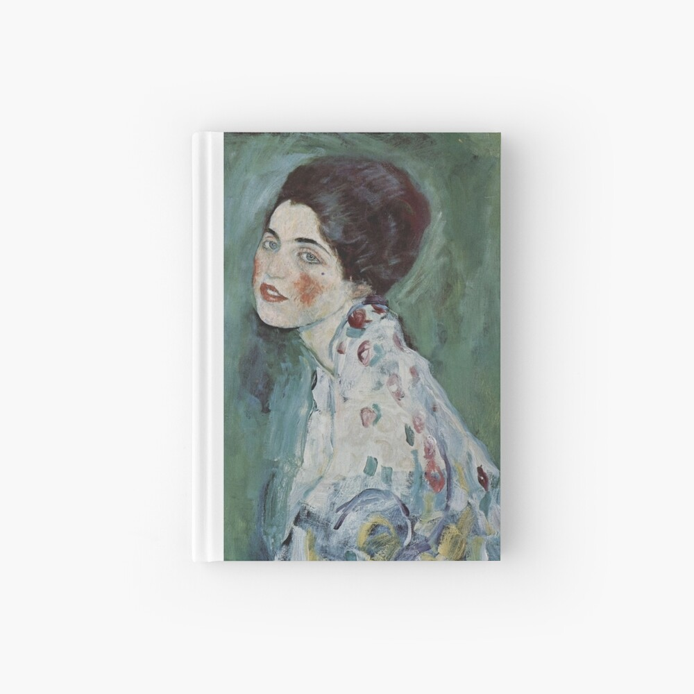 Stolen Art - Portrait of a Lady by Gustav Klimt Hardcover Journal