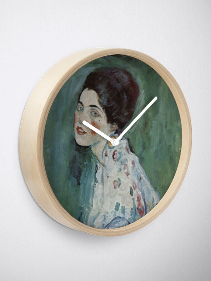 Alternate view of Stolen Art - Portrait of a Lady by Gustav Klimt Clock