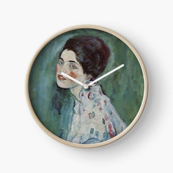 Stolen Art - Portrait of a Lady by Gustav Klimt Clock